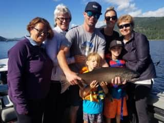 Fabulous family salmon fishing trip 2019