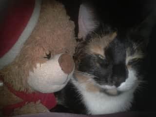 Precious with best friend Noellie.
