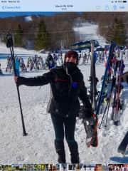 Paul loves to ski , I prefer mountain walking or snowshoe