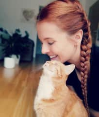 Me with  my furbaby at home
