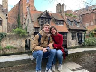 Traveling in Bruges, Belgium