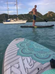 Jim on a paddle in Antigua