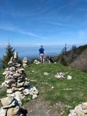 Greg hiking in Lullin, France housesit