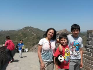 Me and my kids in China