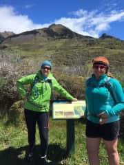 On a day hike up Mt Isthmus, near Lake Hawea, with friend Amanda