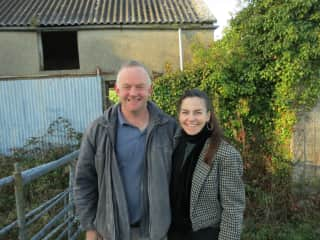 Me meeting my Irish cousin, who still lives on the property where my great grandmother was born in Moycullen, Ireland