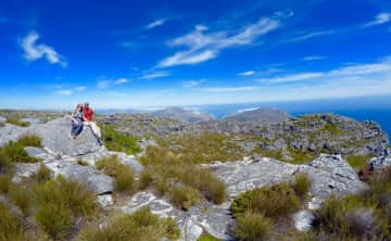 Hiking and Exploring Table Mountain National Park. Cape Town, South Africa