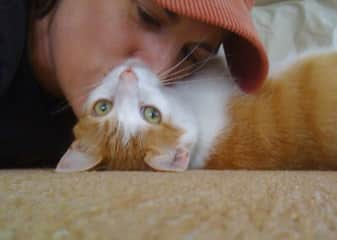 Me and Stinky, former pet sitting baby