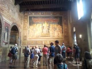 Simone  Martini Maesta' Palazzo  Pubblico Sienna.