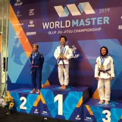 2019 Master World Championships podium picture.