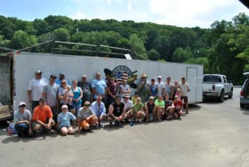 We volunteer with Heroes on the Water.  A group that takes veterans out for the day to kayak, canoe & fish