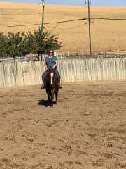 Me on a working horse.