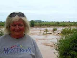 Joy at Galana River, Kenya
