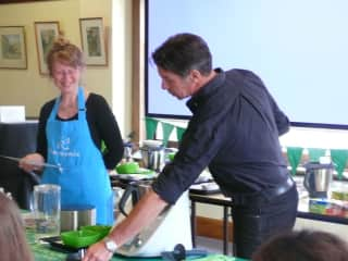 Running cooking classes with my Thermomix team and sometimes with other chefs.