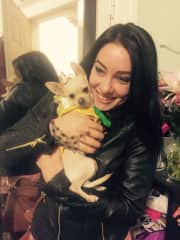 Me with Twigs, my mom's 3-legged chihuahua