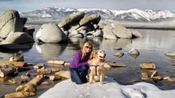Enjoying Lake Tahoe, Nevada, USA, with Denver the Dog