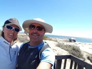 Enjoying the beach in sunny California