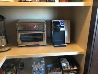 Coffee center in the pantry