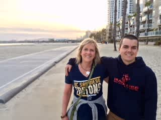 I'm with my son Alex in Long Beach, CA