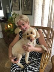 Me with my Spoodle Remy.