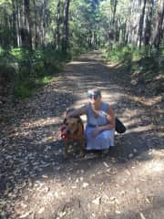 Me with Sasha at a housesit in Margaret River, Western Australia