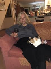 Sarah with Bella (19 yrs) in Colorado