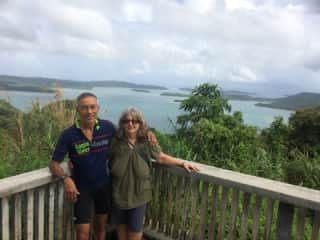 Biking in the Philippines with my husband.