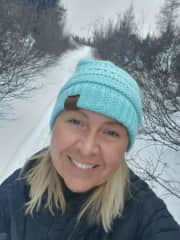 Winter up parallel 52nd North in Fermont, snowshoeing.