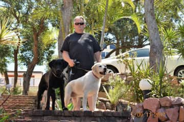 Teddy and Bella with Stewart - Our 2nd TrustedHousesit - Copacabana, Australia