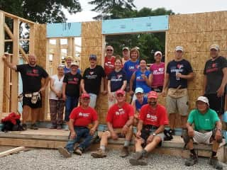 We have been building houses as volunteers and team leaders with Habitat for Humanity since 2006.