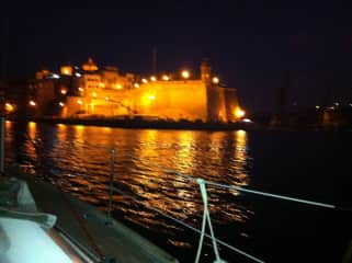 Coming into Grand Harbour Valetta
