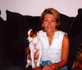 Me with my first dog,Taz,  in 1996. I had him for 17 years