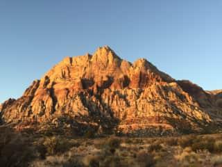 Climbing in Red Rocks, NV