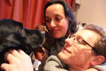 Danilo, Pia and our dog, Nero