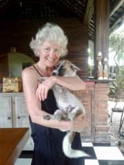 Hugging time with Coco, Bali, Indonesia
