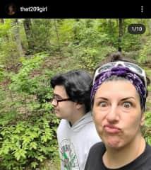 Hiking Kings Mountain w/my son beginning of 2021