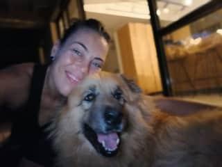 Scooby & me stargazing
