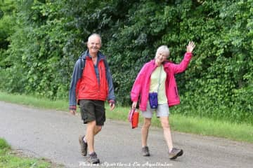My husband, Charles, and me on a charity walk