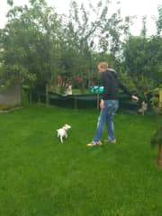Enjoying the garden