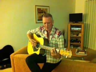 Me and one of my favourite guitars - my trusty Maton