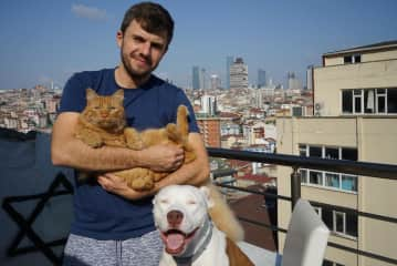 Tom with Sirius and Neptune in Istanbul