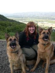 With Nitsa and Eros in Ukiah, California (2005)