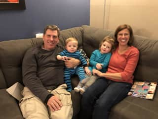 Shirley & Tom - time with the grand-babies