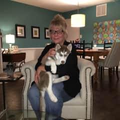 Carol and her grand furbaby