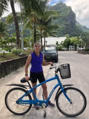 Renting bike to ride around the island of Bora Bora