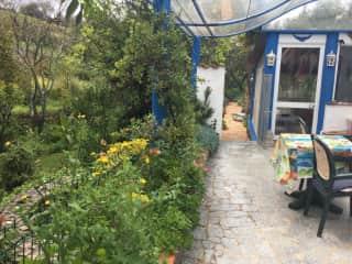 Winter patio to garden