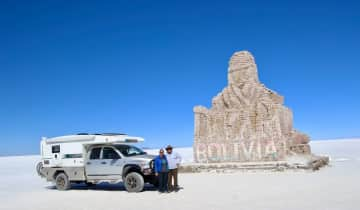 With our truck camper in Bolivia
