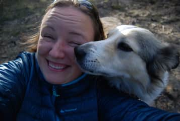 unexpected kiss from Alfie (Spanish Pyrenees)