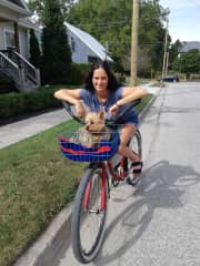 Bike ride with this lil guy. (Max)