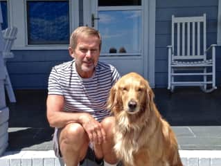 Steve with Rosie in Maine